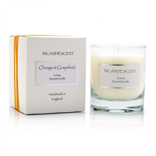 Incandescent scented signature candle